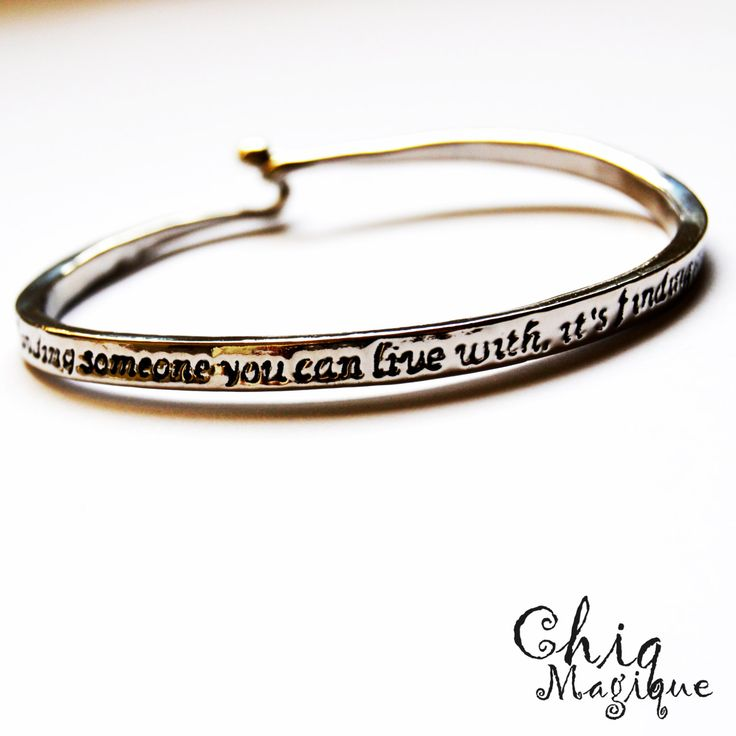 Love Cuff Bracelet <3 / Silver Love Quote Engraved Stamped Carved Bracelet / Jewelry Accessories / Gift for Lovers Loved One / Free Giftbag by MagiqueChic on Etsy