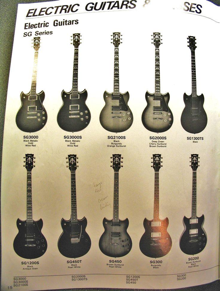 1985 Yamaha Catalogue SG range