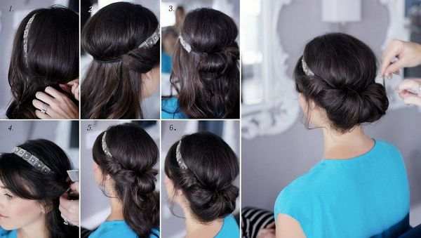 Прическа в греческом стиле на длинные волосы
