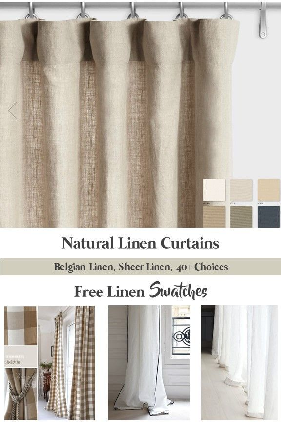 Natural Linen Curtains Belgian Linen Curtains Custom Linen