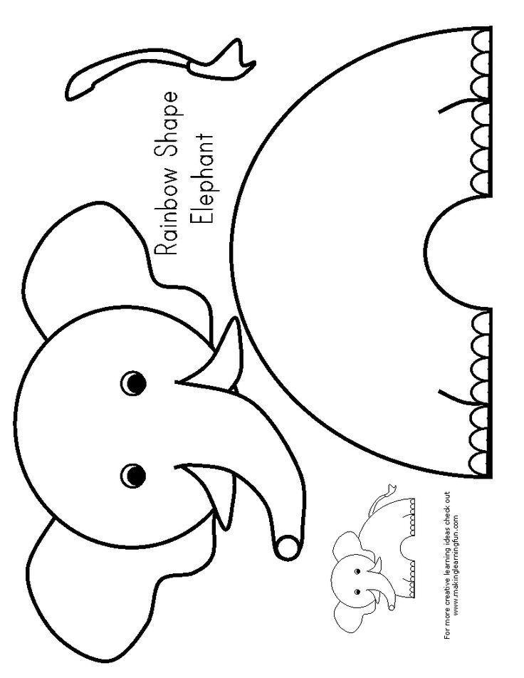 Printable Elephant Craft E Is For Elephant Preschool Elephant Crafts Preschool Elephant Crafts Zoo Crafts