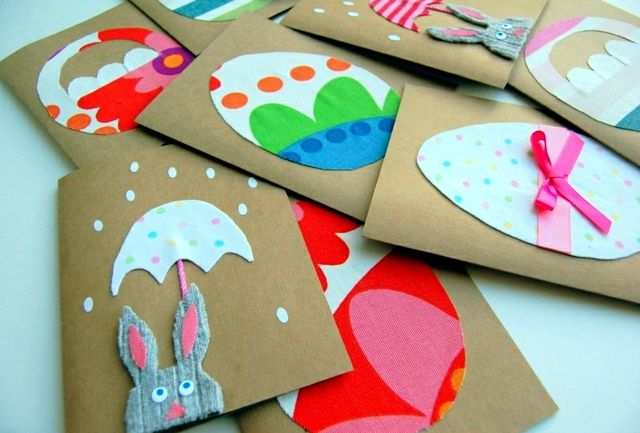 Easter Craft Ideas for Kids - Easter candy cards to go