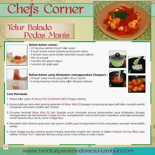 """Chefs """"Corner"""" : Telur Balado Pedas Manis   Maret - April 2014, Steamer"""