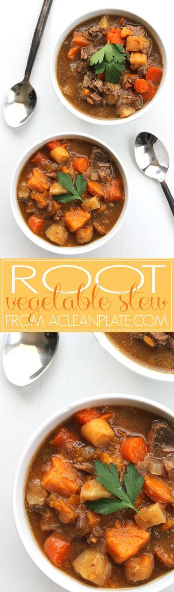 Slow-cooker Root Vegetable Stew recipe from A Clean Plate