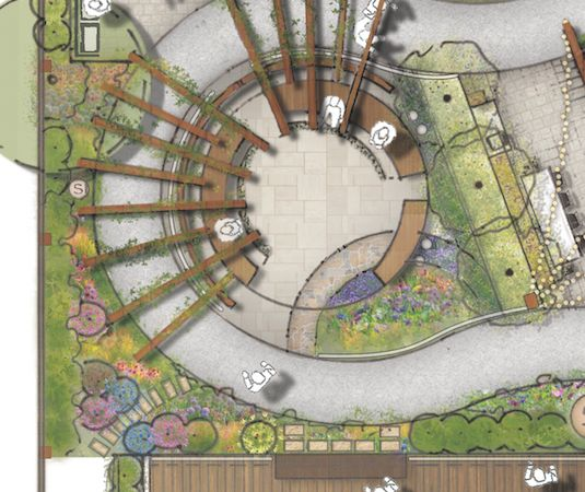 dementia memory garden concept design for alzheimers nsw at port macquarie