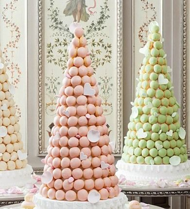 The croquembouche, a conical tower of profiteroles, is a traditional dessert at French weddings.