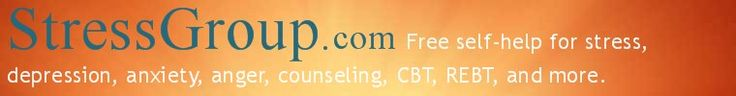 Free stress help, mental health, self-help, depression, anxiety, online counseling, internet counseling, free counseling, CBT, REBT, Rational Emotive Therapy, cognitive behavioral therapy, ABC worksheet, herbal supplements, herbs depression, anger managment, anxeity, anger management, online therapy, internet counseling, internet chat for depression, mental health help
