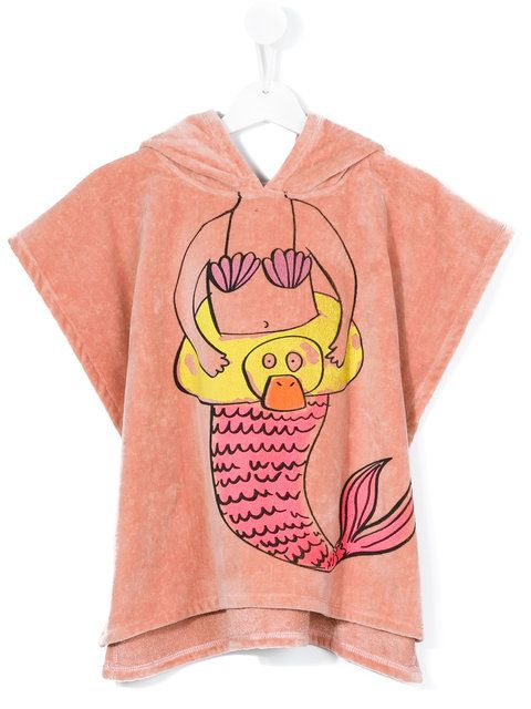 Stella Mccartney Kids mermaid beach towel hoodie #KidsFashionBeach