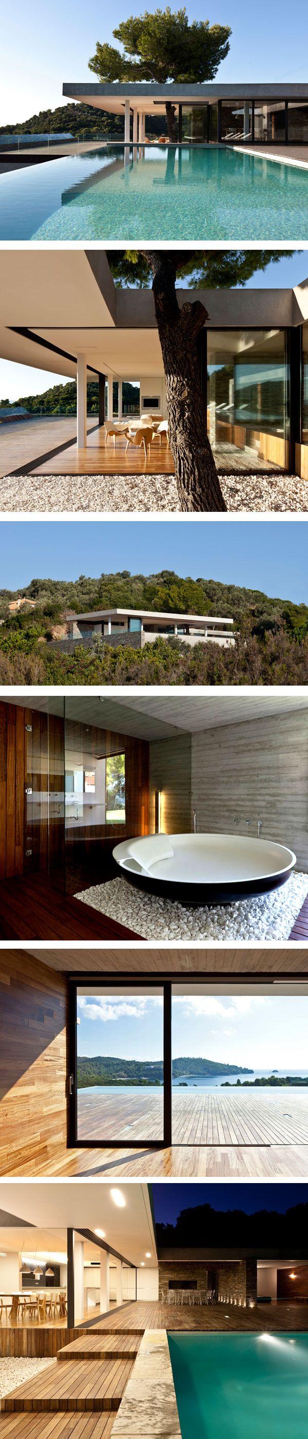 Erdgeschoss haus front design  best 건축물 images on pinterest  modern homes contemporary