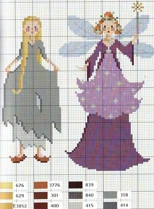 Cinderella cross stitch chart