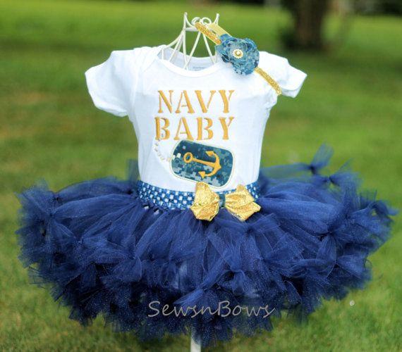 United States Navy tutu Navy Shirt Navy Baby US Navy by SewsnBows