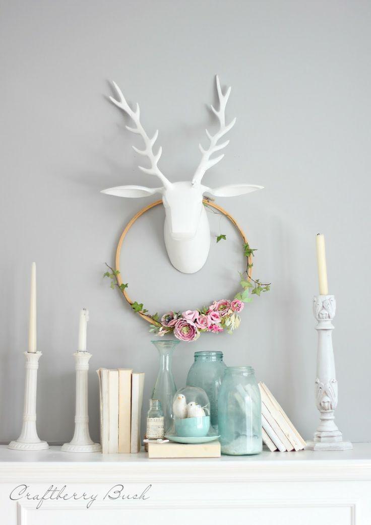 Craftberry Bush - watercolor paper flower embroidery hoop wreath