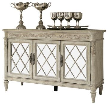 American Drew Jessica McClintock Boutique Mirrored Server - victorian - Buffets And Sideboards - Beyond Stores