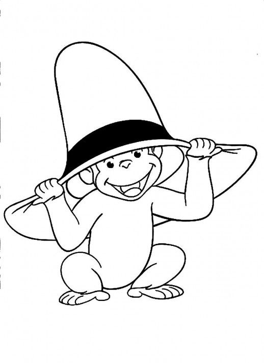 Frog Wearing Birthday Hat Coloring Page