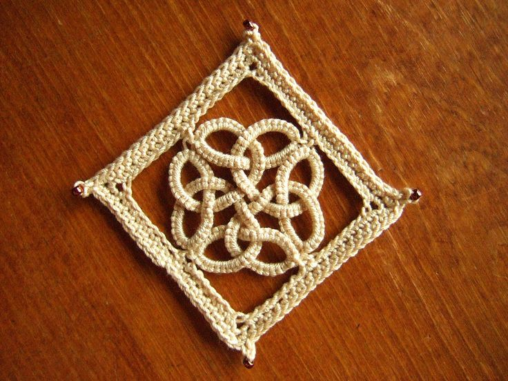 crochet celtic pattern free | The picots that joined were Celtic knotted picot too, but they are too ...