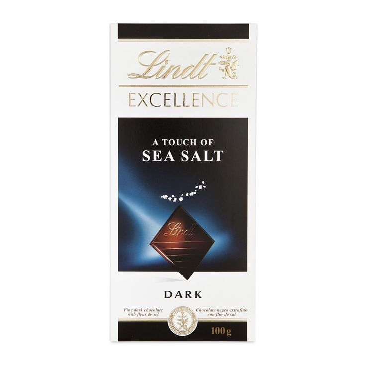 Lindt Excellence Touch Of Sea Salt Dark Chocolate 100g