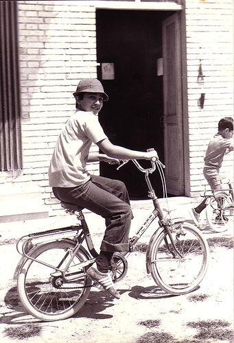 vintage #folding_bike in Italy