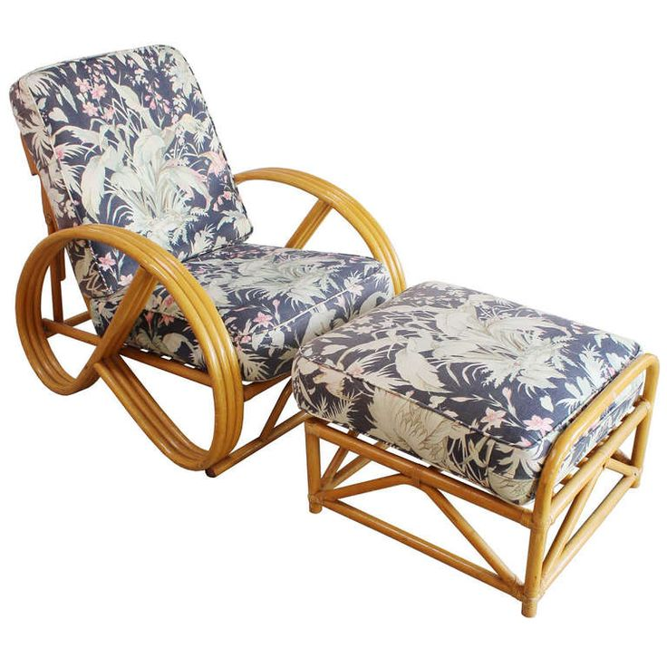 Frankl Style Reclining Chair And Ottoman. RattanmöbelModerne ...