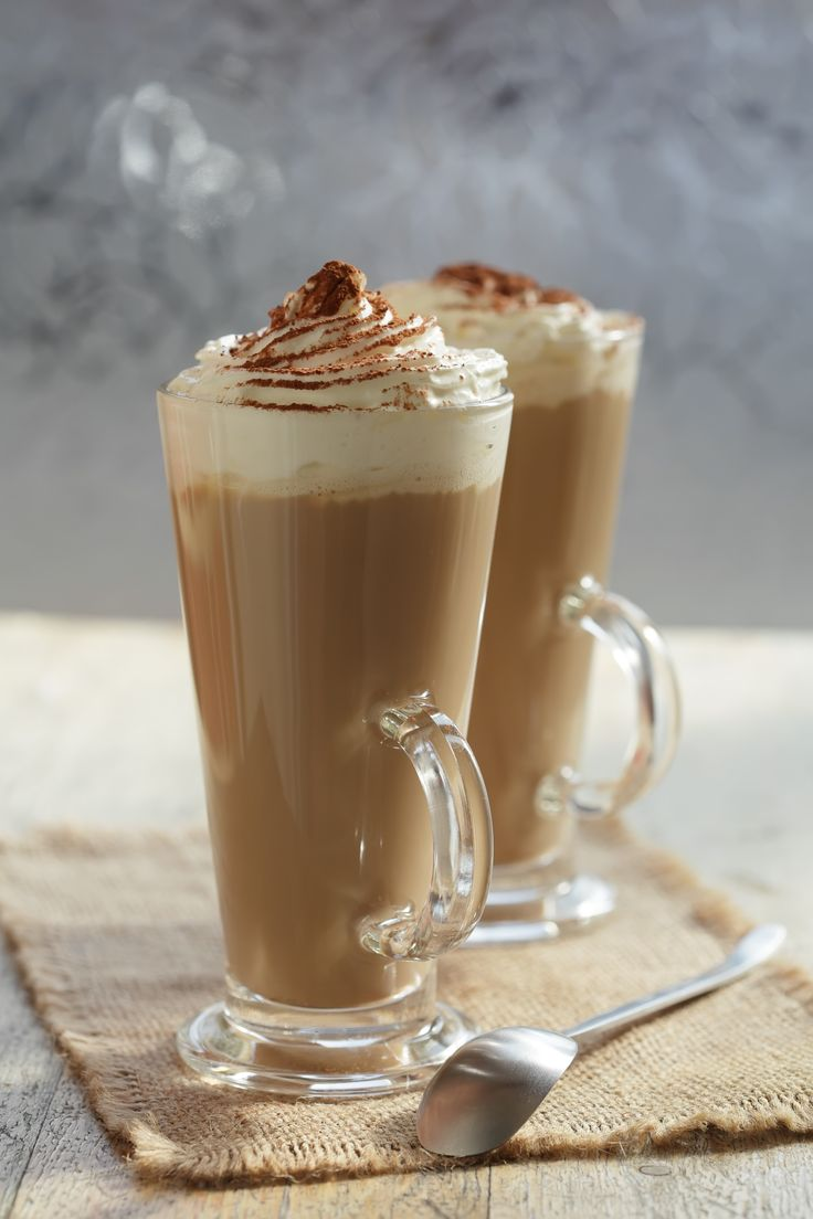 Eiskaffee - Chilled coffee, vanilla ice cream, then topped with whipped cream and chocolate flakes