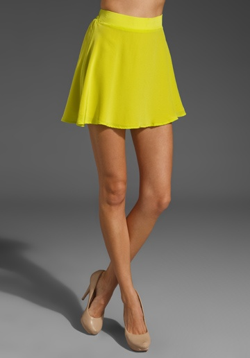 NAVEN Circle Mini Skirt in Chartreuse at Revolve Clothing - Free Shipping!