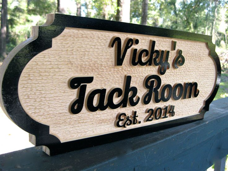 Custom Horse Tack Room Sign Personalized Unique Horse Barn Signs Stable Custom Plaque Farm Signs Barn Decor Horse Name Plate Grain Room Sign by TheStallSignShop on Etsy https://www.etsy.com/listing/218407863/custom-horse-tack-room-sign-personalized