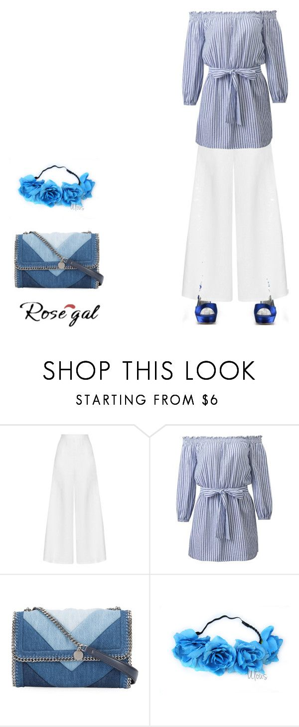 """formel mais pas trop..."" by josselynkaite ❤ liked on Polyvore featuring Miguelina, STELLA McCARTNEY, mode and miamastore"