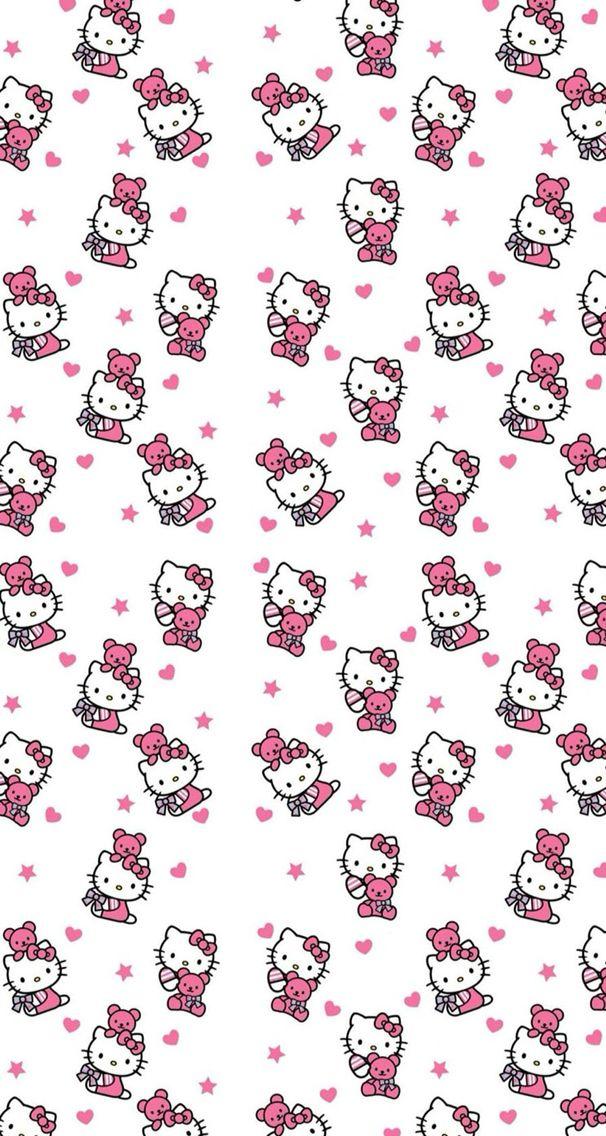 #hellokitty #hello #kitty #pink #white #wallpaper