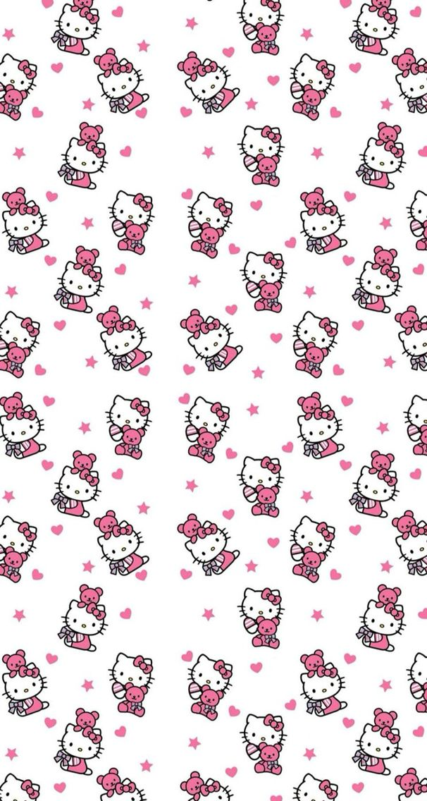#hellokitty #hello #kitty #pink #white #wallpaper