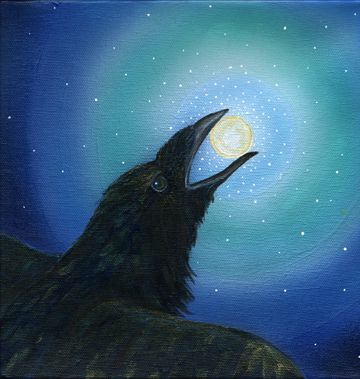 "LOVE!!! ""Raven Brings the Light"" The Art of Cathy McClelland"