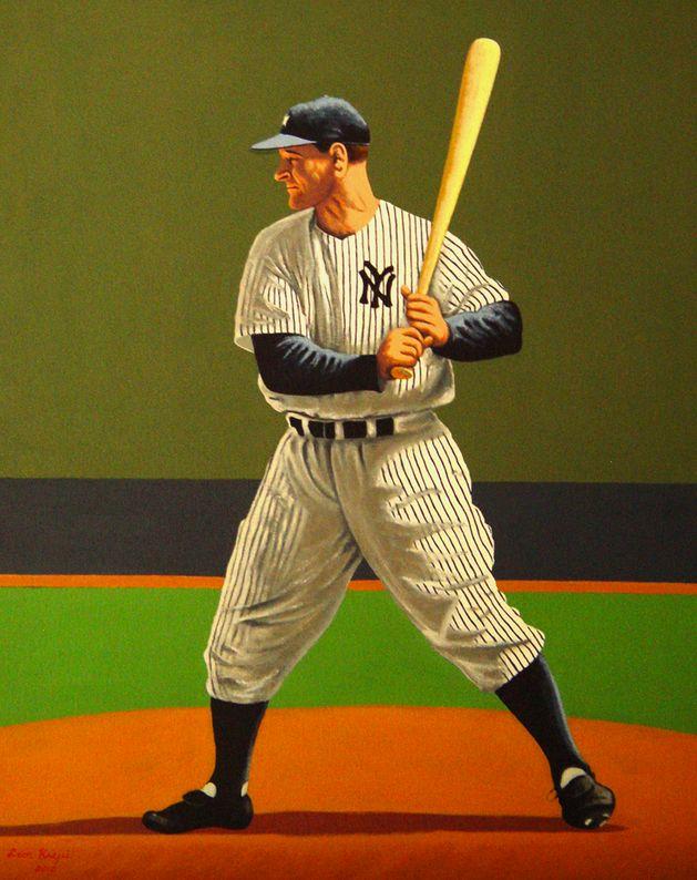 Lou Gehrig by Leon Krejci