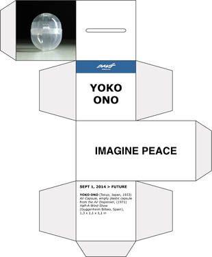 "Saatchi Art Artist Davis Museum; New Media, ""Yoko Ono | Imagine Peace | Air Capsule | Davis Museum Barcelona | Museo Guggenheim"" #art"
