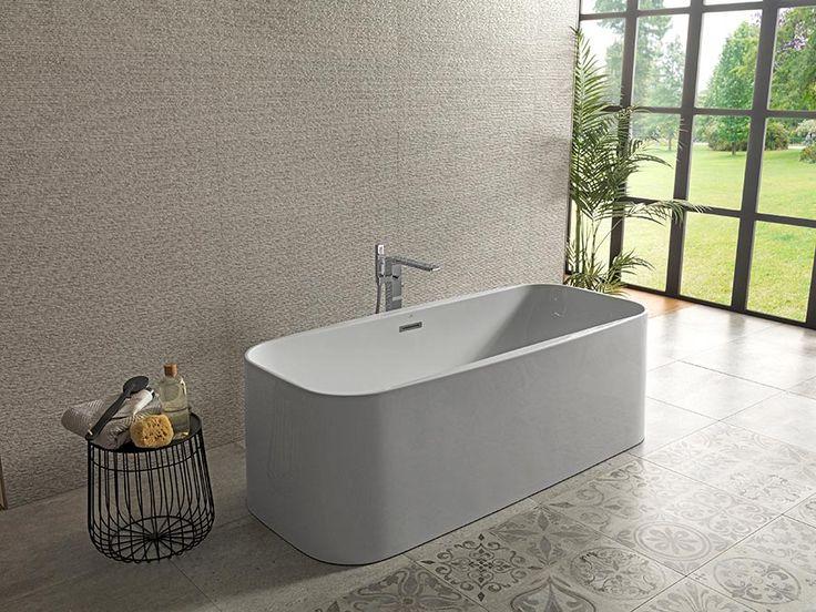 #Bañeras exentas Lounge Square: descubre su geometría y minimalismo #interiorismo #baños