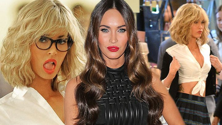 Must See: Megan Fox In a Blonde Wig & Schoolgirl Outfit