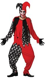 Evil Jester Male- One Size - Halloween Costume http://www.partypacks.co.uk/evil-jester-male-one-size-pid85480.html