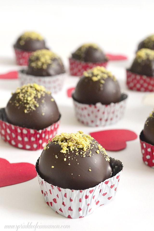 Marzipan chocolate pralines - Simple recipe for delicious marzipan chocolate pralines. #marzipan #chocolate #pralines  www.sprinkleofcinnamon.com
