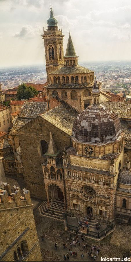 """Bergamo ~ Lombardy, Italy. """"The word bergamot is etymologically derived from bergomotta in Italian, originating from Bergamo, a town in Italy...Citrus bergamia, the Bergamot orange is a fragrant fruit the size of an orange, with a yellow colour similar to a lemon..."""" ~ Wikipedia"""