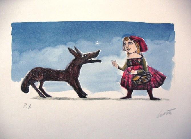 Emanuele Luzzati - Little Red Riding Hood