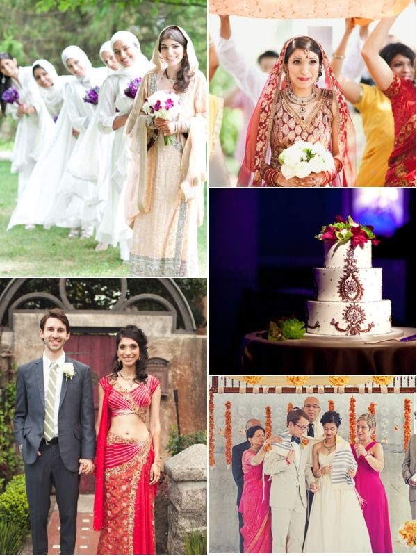 Indian fusion wedding: this site has some ideas in mixing Indian and Western into a wedding