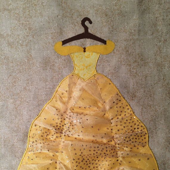 Disney Princess Belle Dress Applique Pattern  by ChiTownStitching