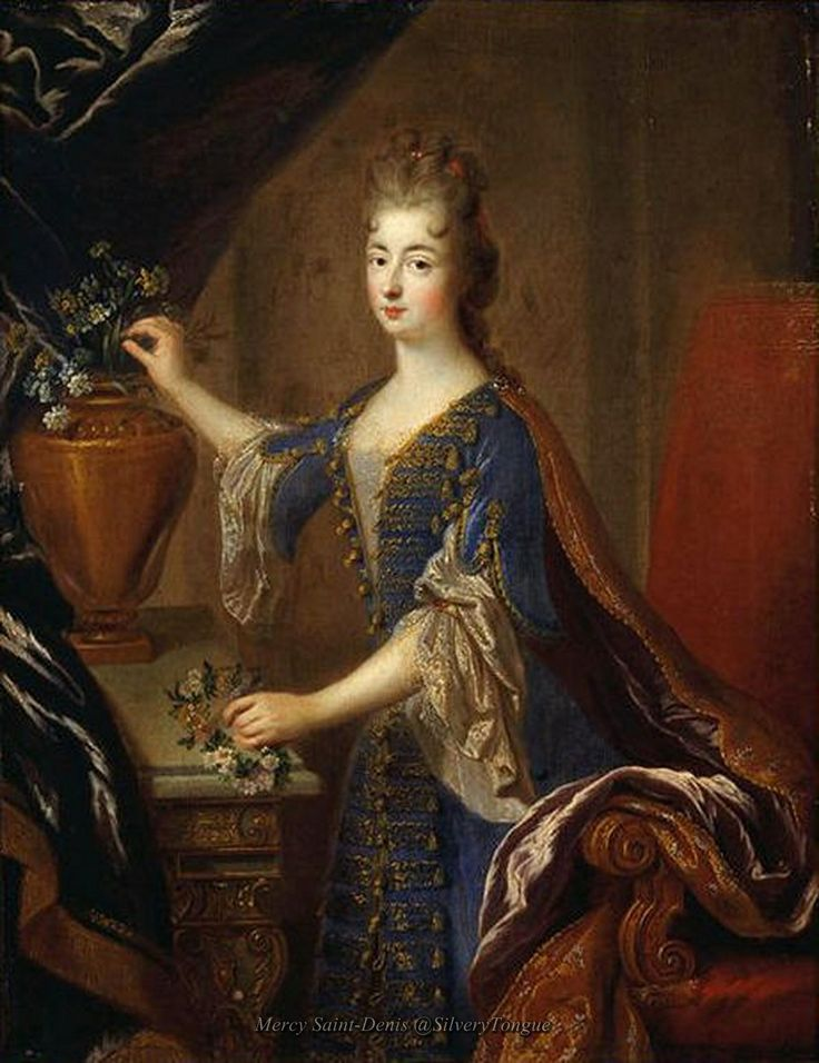 Marie Anne Princesse de Conti daughter of Louis XIV and Louise de La Valliere,1680 by Francois de Troy.