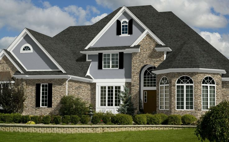 Peppermill Shingles White Trim Black Shutters Gray