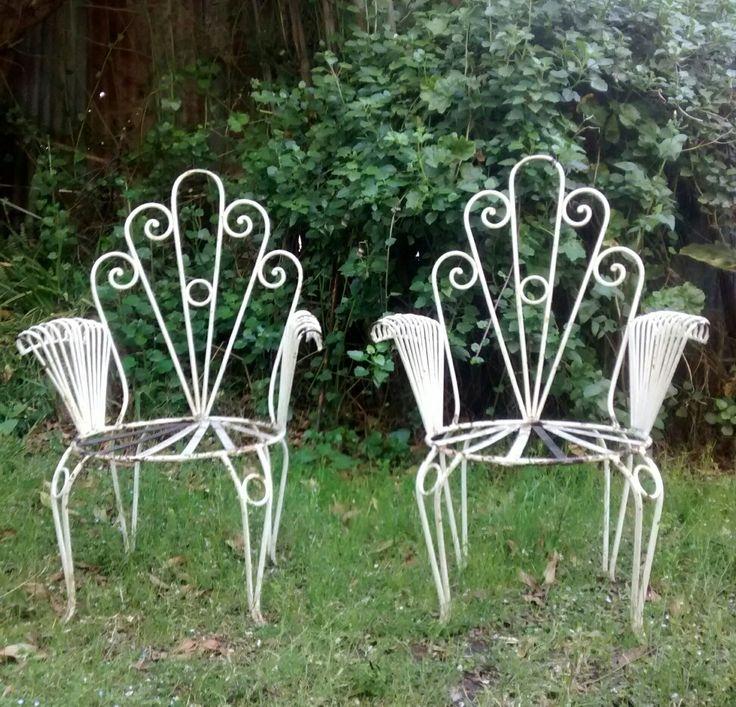 Sillones de hierro, para jardín