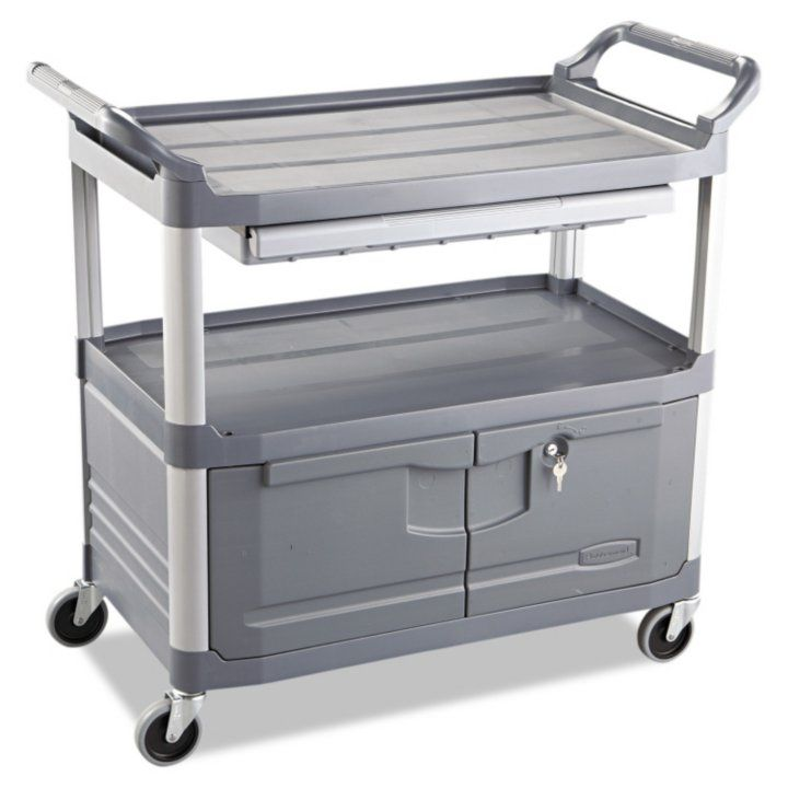 Sam's Club - Rubbermaid Xtra Instrument Cart with Doors & Sliding Drawer - Gray