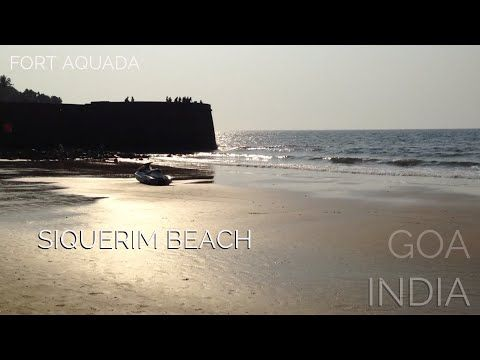 Sinquerim Beach and Fort Aquada in North Goa, India - YouTube