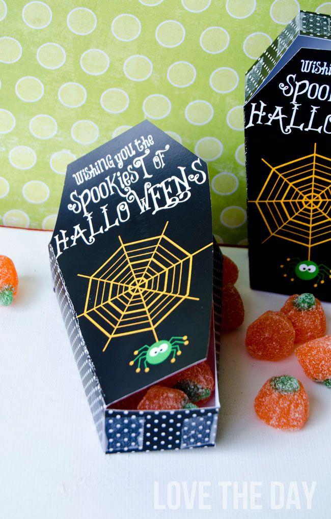 FREE Halloween Printable Coffin Treat Box