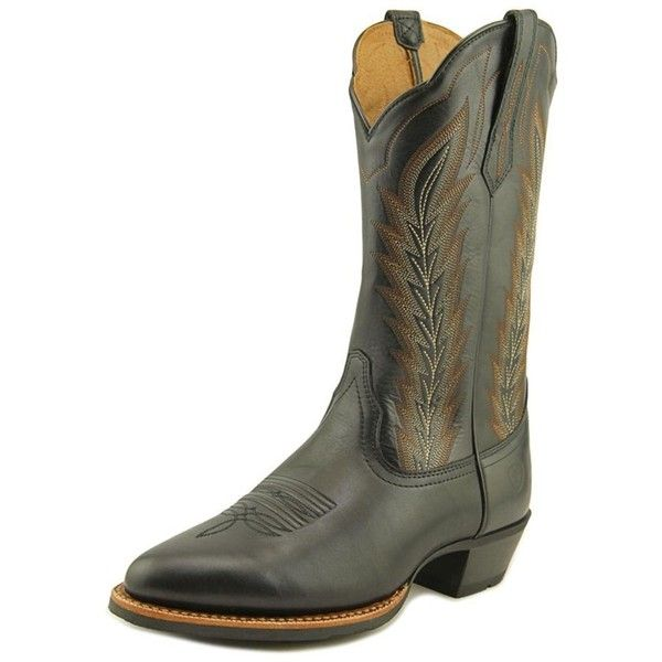 Ariat Ariat Drifter Round Toe Leather Work Boot ($155) ❤ liked on Polyvore featuring men's fashion, men's shoes, men's boots, men's work boots, black, shoes, mens black boots, mens leather work boots, mens black leather boots and mens black work boots