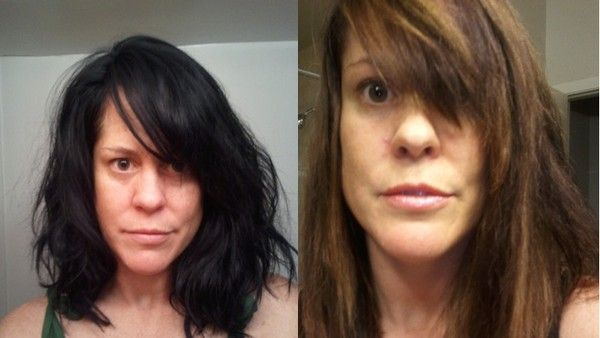 Before and after photos of vitamin C and Head and Shoulders treatment. I ALWAYS go Black and then hate it a few months later, I WILL be doing this!
