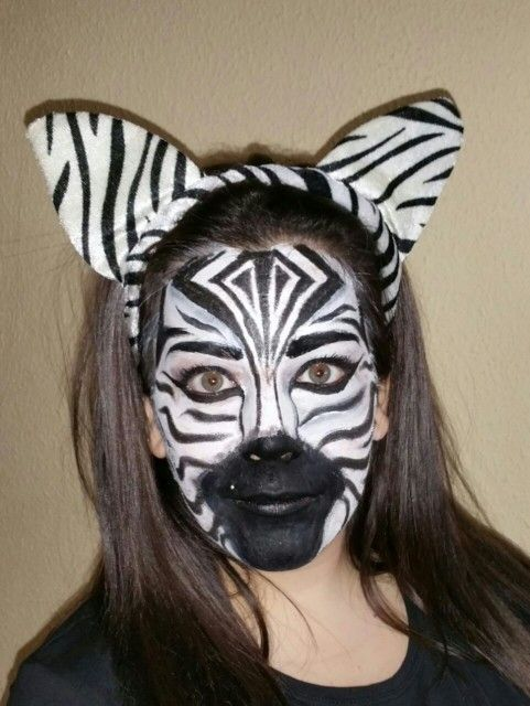 Maquillaje de cebra hecho por Mari Loli Pozo