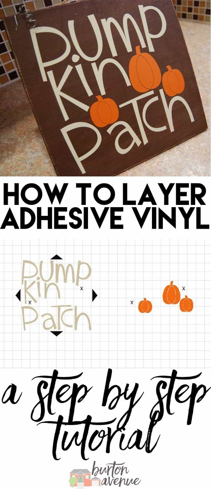 How to layer adhesive vinyl with your Silhouette, Cricut, or other electronic cutter.