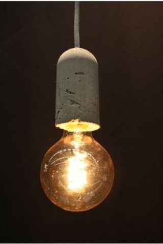 P.NUD Pendant Light. Concrete Base with braided cord. More NUD colours available - Fat Shack Vintage - Fat Shack Vintage